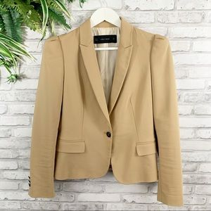 ZARA • Basic Tan Classic Blazer Size Medium